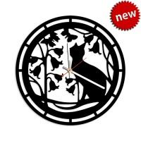 """Декоративные часы """"Кот в саду"""""""