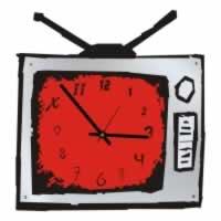 """Декоративные часы """"Телевизор"""""""