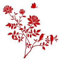 Виниловая наклейка «Луговые цветы»