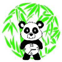 "Декоративные часы ""Панда"""