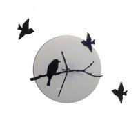 """Декоративные часы """"Птичья ветка"""""""