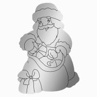 """Зеркальный магнит  """"Дед Мороз"""""""