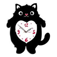 """Декоративные часы """"Кот с сердцем """""""