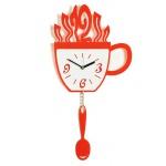 """Декоративные часы """"Чашка и ложка"""""""