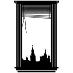 """Виниловая наклейка """"Вид на кремль"""""""