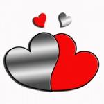 "Декоративное зеркало ""Пара сердец"""