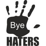 """Наклейка на автомобиль """"Вye.  Haters"""""""