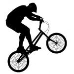 """Наклейка на автомобиль """"Велосипедист"""""""