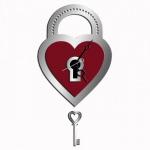 """Декоративные часы """"Ключ к сердцу"""""""