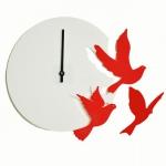 """Декоративные часы """"Летящие птицы"""""""